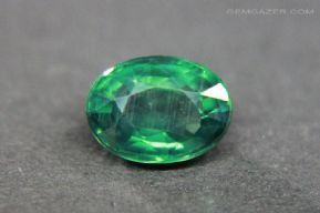 Chrome Tourmaline, faceted, Brazil. 0.93 carat.  ** SOLD **